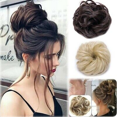 £5.39 • Buy Curly Messy Bun Hair Extensions Hair Piece Scrunchie Extra Thick Real Natural