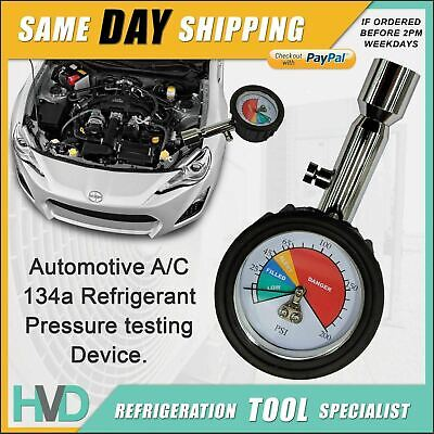 AU39 • Buy Automotive A/C 134a Refrigerant Pressure Testing Device - Connects To Low Side