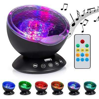 Baby Night Projector Starlight Ocean Wave Dreamshow Musical Light Cot Mobile Toy • 14.99£
