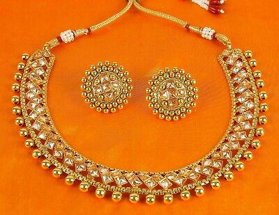 $27 • Buy Indian Bollywood Necklace Style Gold Plated Fashion Wedding Bridal Jewelry Set