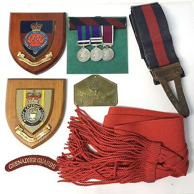 £695 • Buy Long, Campaign, General Service Medal Group Grenadier Guards ACC Sergeant Etc.,
