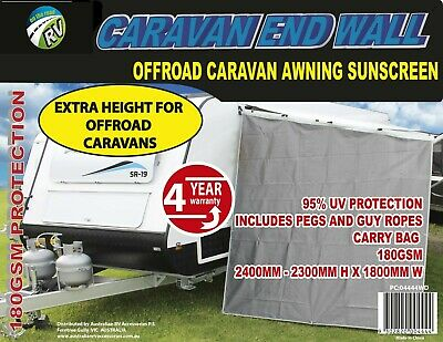 AU49 • Buy CARAVAN End Wall 2.4mH Off Road Privacy AWNING SUNSCREEN DOMETIC RV JAYCO PARTS