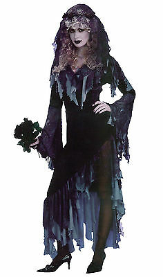 Zombie Bride Ladies Halloween Costume Ghostly Fancy Dress • 21.99£