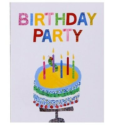 10x Hungry Caterpillar Birthday Party Invitations 1,2,3 Year Old Parties • 3.99£
