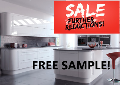 £25 • Buy Vivo White Gloss Lacquered Slab 18mm Kitchen Doors And Draw Fronts.