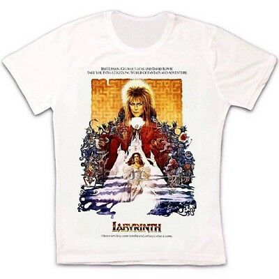 Labyrinth 86 Film Cool Retro David Bowie Vintage Hipster Unisex T Shirt 895 • 6.45£