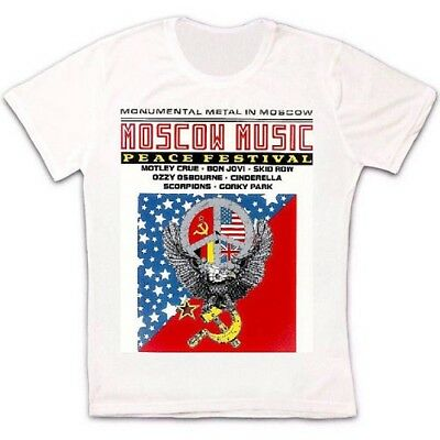 Moscow Music Peace Festival Ussr Poster Retro Vintage Hipster Unisex T Shirt 977 • 5.95£