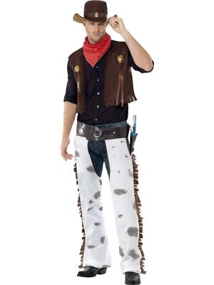 $32.99 • Buy Cowboy Costume Mens Rodeo Adult Western Wild West Halloween Fancy Dress Outfit