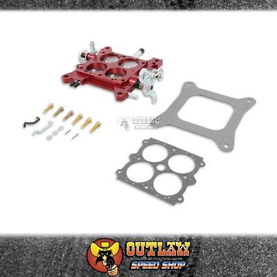 AU341.70 • Buy Quickfuel 4150 Billet Throttle Body Assembly - Red 1-11/16  Ss Plates - Q-12-750