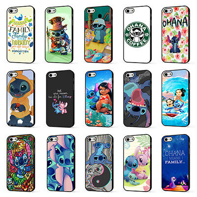 LILO AND STITCH DISNEY FUNNY CUTE OHANA PHONE CASE COVER For IPHONE 4 5 6 7 8 X • 4.95£