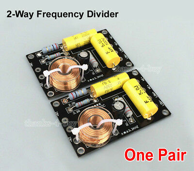 $ CDN21.83 • Buy 2pcs Audio Frequency Divider Multi Speaker 2 Unit 2 Way Crossover Filters 250W