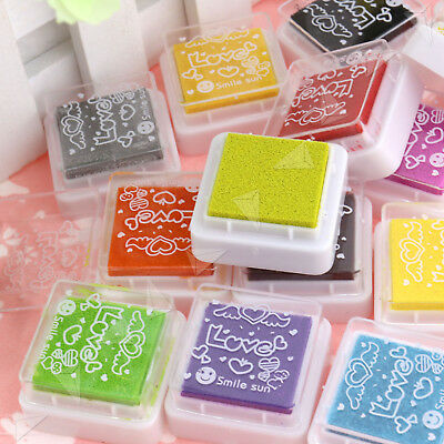 Set Of 24 Colors Rubber Stamps Pigment Ink Pads For Paper Wood Fabric Craft • 5.69£