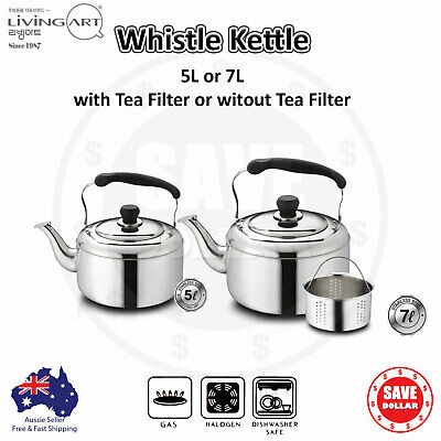 AU52.95 • Buy Kitchen Art Whistling Kettle Stainless Steel Tea Pot Camping Stove Top 5L 7L