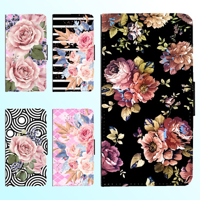 AU13.99 • Buy Galaxy Note 9 8 S9 S8 Plus S7 PU Leather Flip Wallet Case Flower Floral II Cover