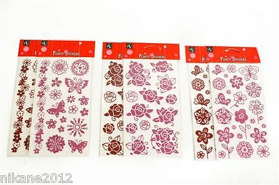Craft Stickers Cr0425  Del Embellishments Card Making Flower Gem Monte New • 1.99£