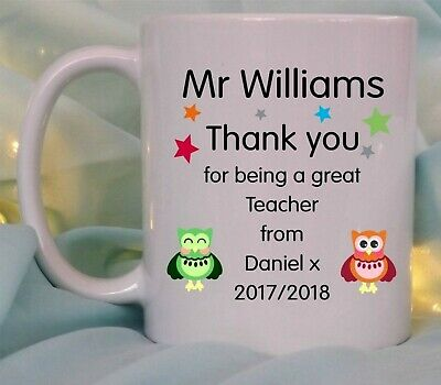 £8.95 • Buy Personalised Teacher Christmas Gift Mug Cup End Of Term School Thank You Leaving