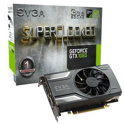 $ CDN319.26 • Buy EVGA GeForce GTX 1060 SC SuperClocked 3GB GDDR5 GAMING Graphics Card DX12