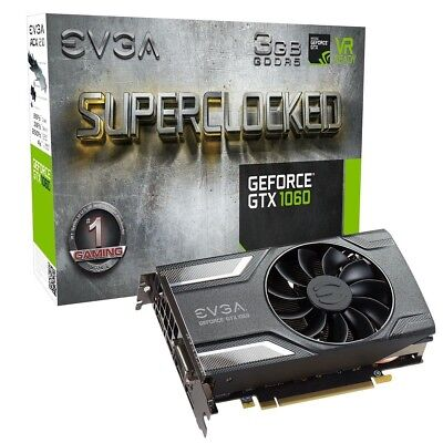 $ CDN309.20 • Buy EVGA GeForce GTX 1060 SC SuperClocked 3GB GDDR5 GAMING Graphics Card DX12