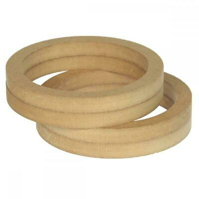 £8.91 • Buy 6.5  165mm Pair Of MDF Speaker Spacer Mounting Rings 36mm Thick ID 144mm