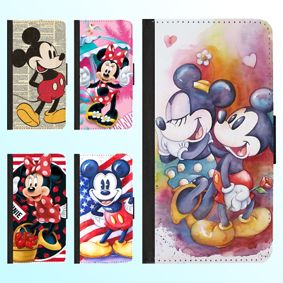 AU13.99 • Buy IPhone 12 Pro Max 11 XR X Leather Flip Wallet Case Disney Mickey Minnie II Cover