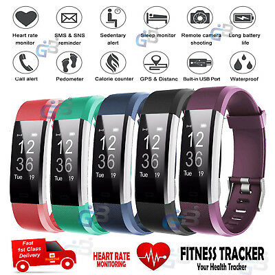 View Details Sports Fitness Tracker Watch Waterproof Heart Rate Activity Monitor Fitbit Style • 23.99£