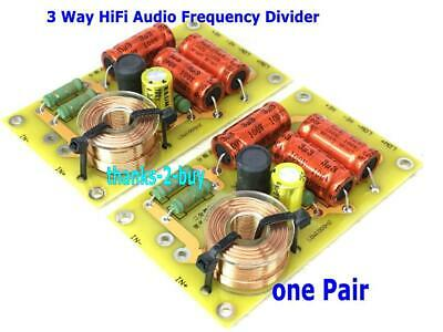 $ CDN34.08 • Buy 2x Multi Speaker 3 Way HiFi Audio Frequency Divider Crossover Filters Power 250W