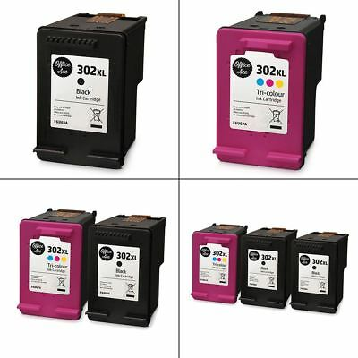 HP 302XL Black & Colour Ink Cartridges - Remanufactured For HP Printers • 16.95£