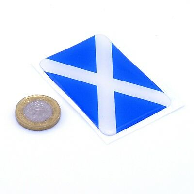 Scotland Flag Domed Gel Stickers Saltire Cross Car Vinyl Universal Decal 65mm • 2.99£