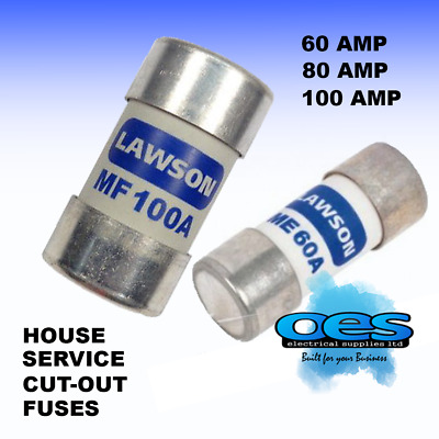 £5.95 • Buy House Mains Service Cut-out Fuses Small And Large 60 Amp 80 Amp And 100 Amp
