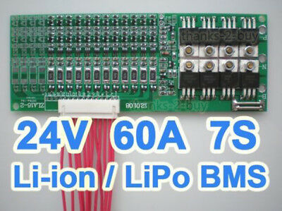 AU44.06 • Buy 7S Cells 60A 25.2V W/balancing Li-ion Lithium 18650 Battery BMS Protection Board