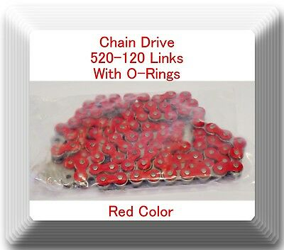 AU171.87 • Buy With O-Ring Drive Chain Red Color 520-120  ATV Motorcycle 520 Pitch 120 Links