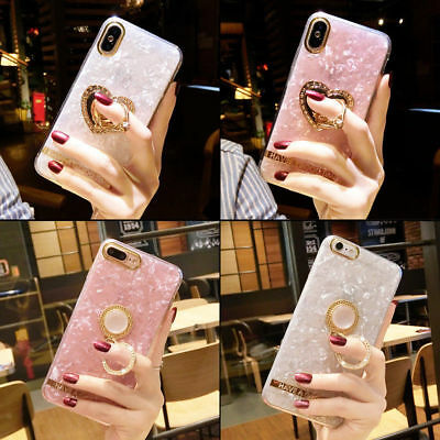 AU7.12 • Buy Luxury Finger Holder Ring With Stand Soft Case Cover For IPhone X 8 Plus 7+ S9 +