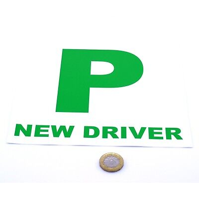 New Driver P Plate Stickers 2x Safety Car Learner Just Passed Vinyl Legal Signs • 1.79£