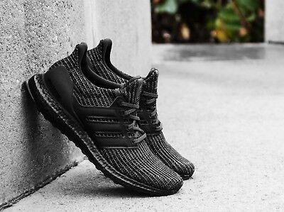 330294b56 Adidas UltraBoost 4.0 LTD Reflective Triple Black New Men Size 5-14 (BB6171)