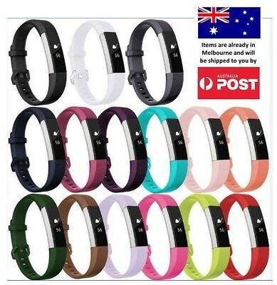 AU7.95 • Buy New Replacement Silicone Wrist Band Secure Buckle For Fitbit Alta HR / Alta 2