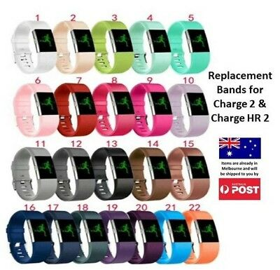 AU7.95 • Buy New Replacement Silicone Wrist Band For Fitbit Charge 2 / Charge HR 2