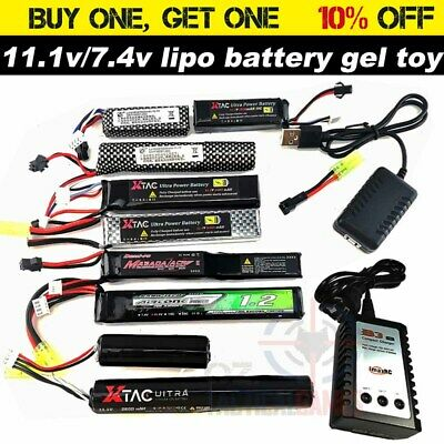 AU21.94 • Buy 7.4V 11.1v Lipo Battery Gel Blaster SM Tamiya Upgrade B3 Charger GEN8 J9 J10 LDT