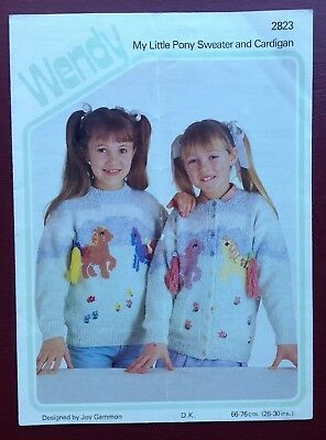 Wendy - Girl's My Little Pony Sweater & Cardigan - Knitting Pattern • 2.50£