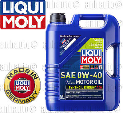 $ CDN62.51 • Buy 5-Liters  Liqui Moly SAE 0W-40 Fully Synthetic Motor Oil Synthoil Energy
