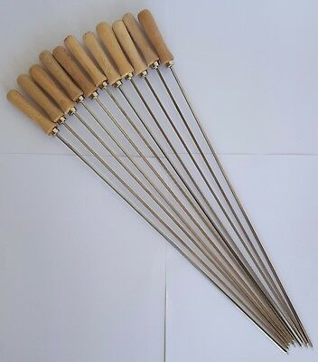 £24.99 • Buy 11 X Stainless Steel Small Skewers 45 Cm For Cypriot Greek BBQ Foukou Charcoal