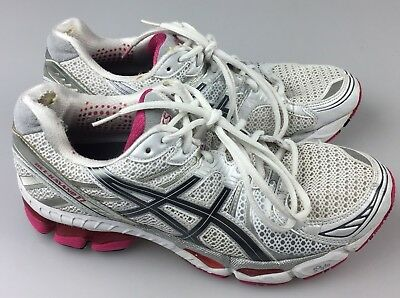 $13.74 • Buy Asics Gel-Kayano 17 Womens Running Shoes SZ 10 White Pink Grey Silver