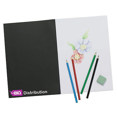 £2.49 • Buy A4 Sketch Book Pad White Cartridge Paper Black Cover New