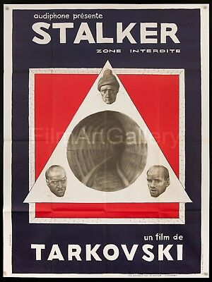 $450 • Buy STALKER 1981 French 47 X63  Poster Andrei Tarkovsky Bougrine Art Filmartgallery
