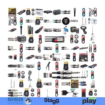 Stagg Pro Audio Cables Mics & Accessories For Musicians & Dj - Xlr Jack Rca Spk • 10.77£