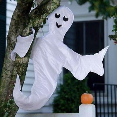 """$ CDN27.69 • Buy Halloween Decoration 40"""" Nylon Wired Frame Ghost Indoors/Outdoors Eyes Glow"""