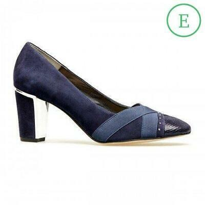 £43 • Buy Van Dal Ash Navy Suede & Leather Wide Fitting Court Shoes