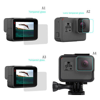$ CDN1.56 • Buy Pro 9H Premium Tempered Glass Screen Protector/ Lens Protect For Gopro Hero 6/5