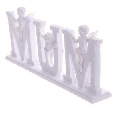 £9.99 • Buy Mum Letters With Cherub Angel Memorial Fathers Day Gift Home Ornament Decoration