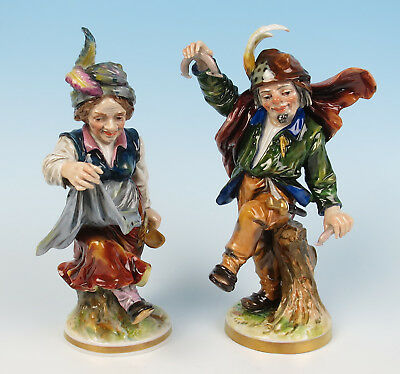 $ CDN229.88 • Buy Pair Quality Antique German Or Ginori Dancing Peasant Figurines Porcelain Lady