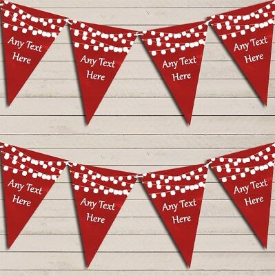 Red Watercolour Lights Wedding Day Married Bunting Garland Party Banner • 7.29£